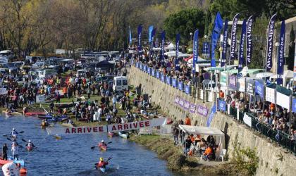 Mairie Saint-Martin d'Ardèche - Arrivée du Marathon International à Saint-Martin d'Ardèche