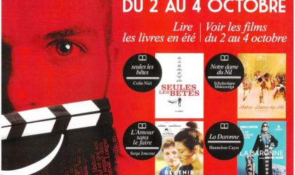 """Affiche de la 11ème édition du festival """"Roman & Cinéma"""""""