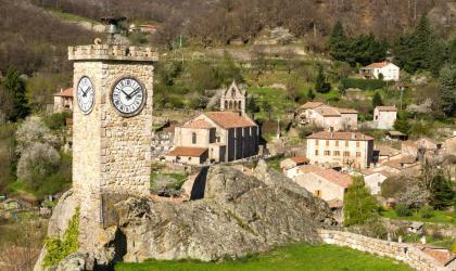 ©S.BUGNON - Burzet - La Tour de l'Horloge ©S.BUGNON
