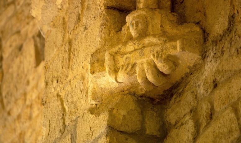 ©S.BUGNON - Montpezat-sous-Bauzon - Sculpture à Notre Dame de Prévenchères ©S.BUGNON