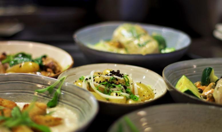 """© Luigi Rubini - Quelques plats servis au bar-restaurant """"Bistrot St. Anne / Maison Cornu"""""""