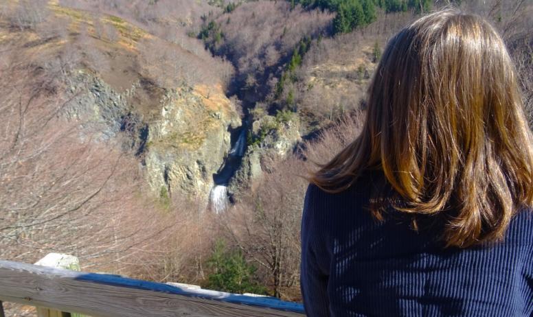 ©Maeva-lopez ©OTASV - Péreyres - Vue sur les cascades du Ray Pic depuis le belvédère ©Maeva-lopez ©OTASV