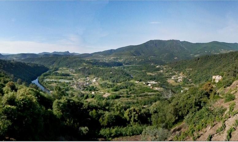 Gîtes de France - Vue panoramique depuis la terrasse