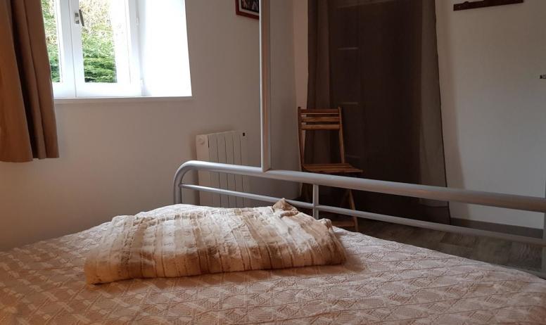 Gîtes de France - Chambre avec 1 lit en 140 et 1 en 90 superposé
