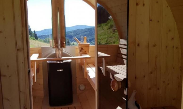 Gîtes de France - Intérieur du sauna