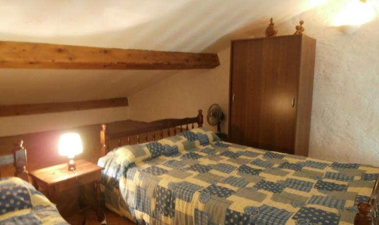 Gîtes de France - Autre vue de la mezzanine avec les 2 lits.