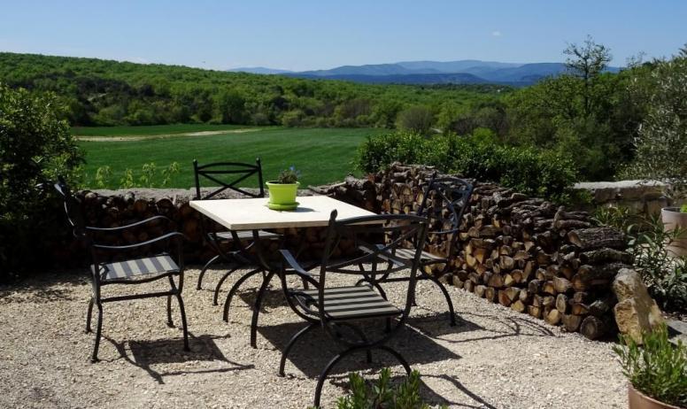 Gîtes de France - La vue depuis la terrasse
