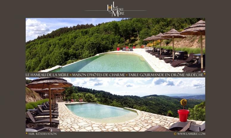 Gîtes de France - La piscine chauffée à débordement