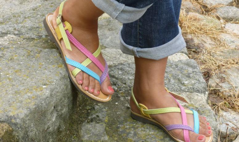 Empreintes - Sandales en cuir