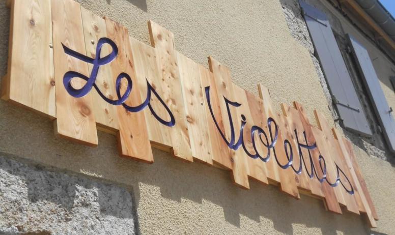 Lise Colleter - Panneau Entrée Les Violettes Sainte Eulalie