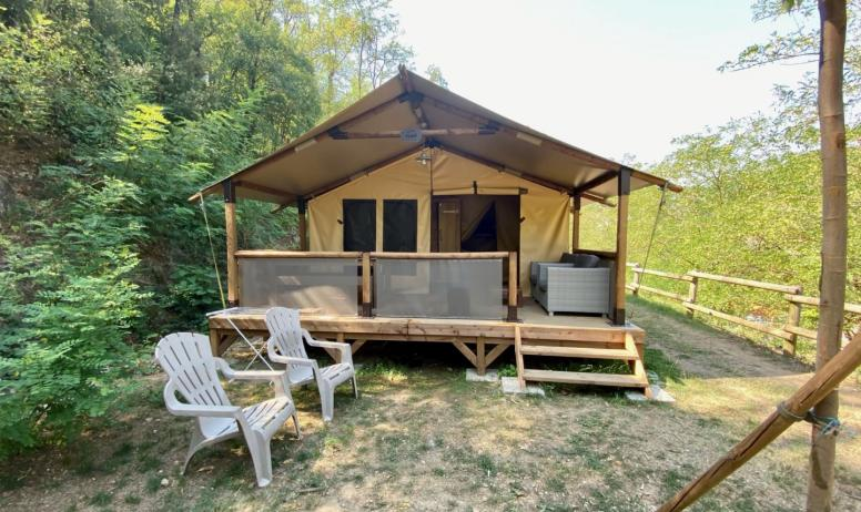 Tente Safari au Camping Mas de Champel en Ardèche