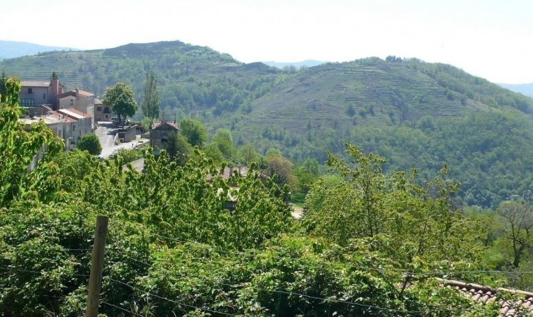 - vue de dessus depuis la terrasse