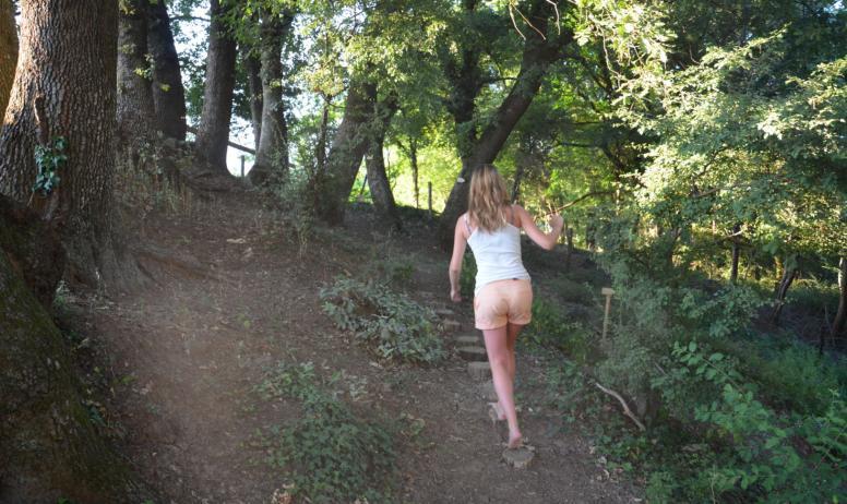 Découvrez notre sentier à pieds nus !
