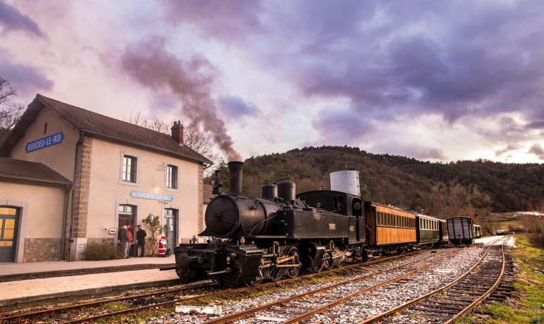 Sylvain Bridot - Le train en gare de Boucieu le Roi