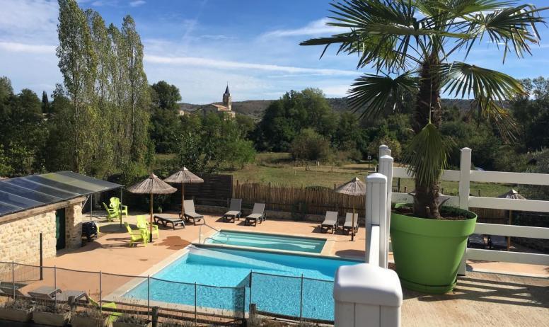 Gîtes de France - vue du terrasse privée