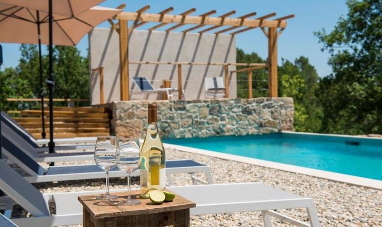 M. Dupont - S. Vigouroux - Gite l'olive Orchidée sauvage piscine commune