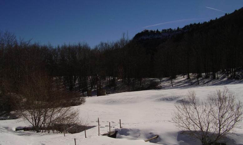 vue du bas de l'ancienne piste de ski