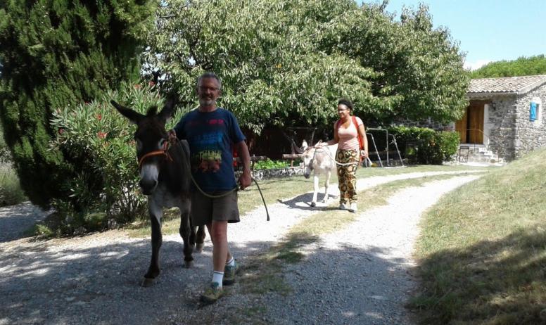 Gîtes de France - balade avec âne