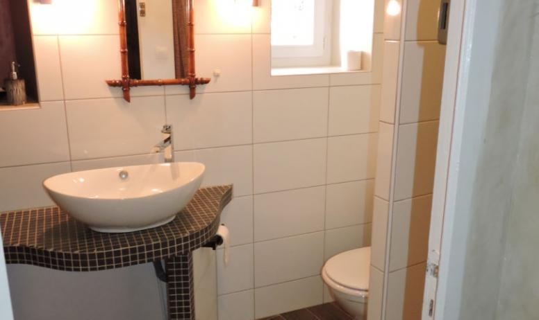 Mr et Mme Alleene - Chambres d'hôtes La Bergerie à Lussas - Salle d'eau chambre Dakar