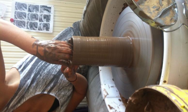 Gwladys Lopez - Travail à l'atelier